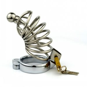 Stainless-Steel-Bondage-Male-Chastity-Cage-with-Urethral-Plug-SoundsPenis-Cage-Chastity-Device-Adult-Sex-Toy-1