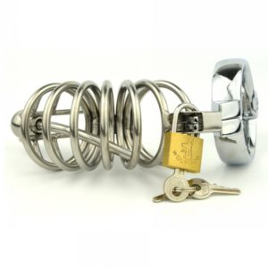 Stainless-Steel-Bondage-Male-Chastity-Cage-with-Urethral-Plug-SoundsPenis-Cage-Chastity-Device-Adult-Sex-Toy