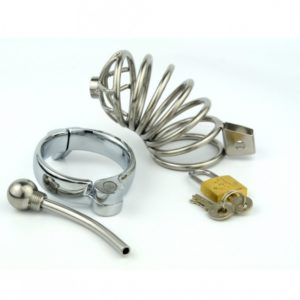 Stainless-Steel-Bondage-Male-Chastity-Cage-with-Urethral-Plug-SoundsPenis-Cage-Chastity-Device-Adult-Sex-Toy-5